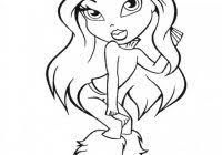 printable bratz coloring pages free coloring pages
