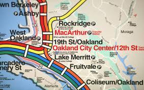 Bart Map Oakland by How Bart Got Art Eichler Network