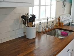 countertops brown glass cabinet doors butcher block countertops
