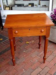 an antique cherry one drawer nightstand work table circa 1850