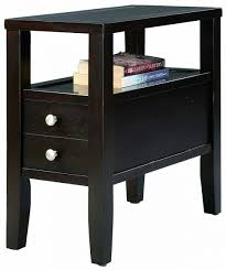 leick recliner wedge end table furniture leick recliner wedge end table medium oak home kitchen