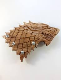 game of thrones key hanger wooden direwolf key holder game of