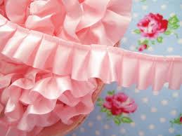 ruffle ribbon petal pink box pleated satin ribbon trim pink box pleated satin