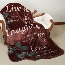 live laugh love soft thermal throw blanket