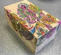 add some color to a wooden box hometalk