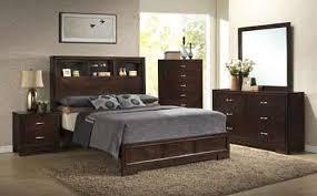 Bookcase Headboard With Drawers Walnut Bedroom W Bookcase Headboard Bed Puritan Furniture Ct