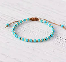 bead string bracelet images Simple bracelet handmade boho half plating square crystal bracelet jpg