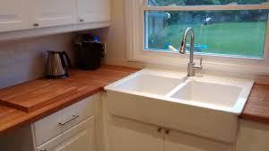 testimonials ikea installer kitchen renovation belleville ikea domsjo double sink adds a classic country feel and pairs beautifully with the butcher block