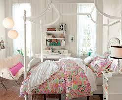 bedroom design ideas brown dotted fabric cozy bedsheet