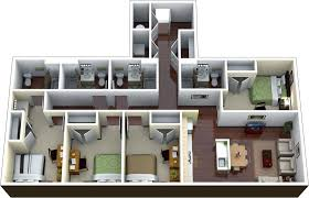 four bedroom apartment home design ideas and pictures