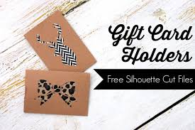 pitterandglink diy gift card holders with free silhouette cut files