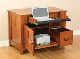 Amish Computer Armoire Mission Laptop Credenza Desk From Dutchcrafters