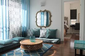 moroccan round coffee table moroccan wall mirrors for living room in small apartment with a