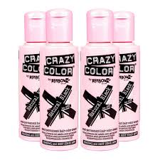 crazy color semi permanent natural black hair dye 4 pack 100ml