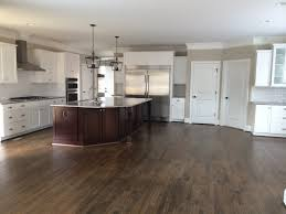 White Kitchen Cabinets With Black Countertops Wood Floor Kitchen White Shaker Cabinets Dark Wood Floors Eiforces Wood