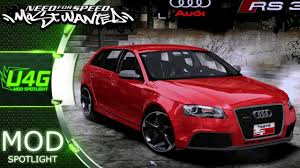 audi rs3 mods 2012 audi rs3 sportback need for speed most wanted 2005 car mods