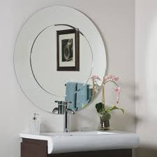 Frameless Bathroom Mirrors by Frameless Arched Wall Mirror Hang A Frameless Wall Mirror