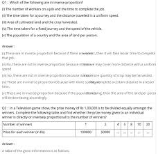 ncert solutions for class 8 maths chapter 13 direct and inverse
