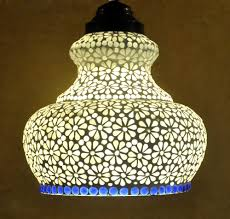 Mosaic Pendant Lighting by Indian Home Decorative Mosaic Glass Jaipuri Ceiling Hanging Lamp