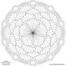 excellent printable flower coloring page mandala with