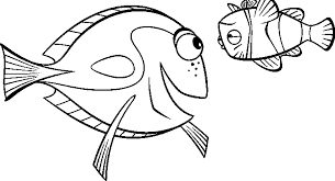 finding nemo dory marlin sad coloring pages kids dcn