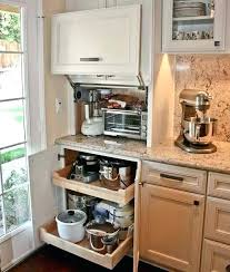 kitchen appliance storage cabinet kitchen appliance storage cabinet creative appliances storage ideas