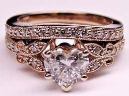 vintage rose rings images Engagement rings vintage rose gold wedding promise diamond jpg