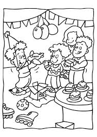 birthday party coloring pages glum