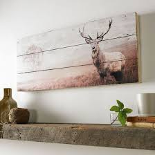 large wood wall hanging stag print on wood wall wall uk graham brown