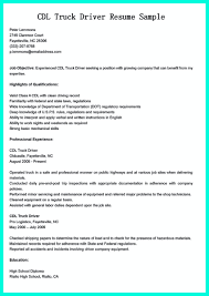 Resume Objective For Truck Driver Simple But Serious Mistake In Making Cdl Driver Resume