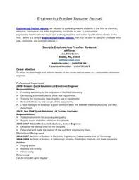 Latest Resume Format For Freshers Engineers The Company Grants Latest Resume Format For Freshers At Affordable