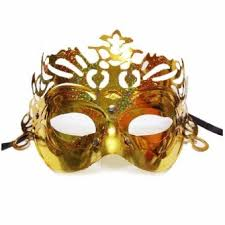 gold masquerade mask gold plated classic crown fancy party masquerade mask gold
