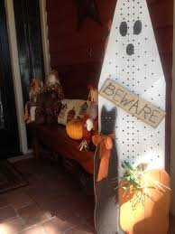 Fall And Halloween Decorating Ideas Repurposing An Old Ironing Board Into A Ghost Fall Ideas
