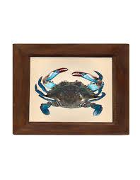 blue crab print squan trading company