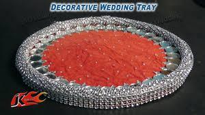 wedding tray thali decoration jk wedding craft 011
