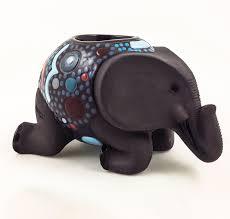 ceramic elephant candle holder porcupine ceramics