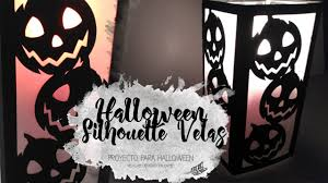 Halloween Silhouette Candelero Halloween Silhouette Cameo Manualidades Diy
