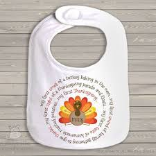 personalized bib turkey thanksgiving baby bib