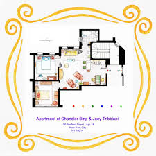 Tv Show Floor Plans by Apartment Of Chandler And Joey From Friends By Nikneuk On Deviantart