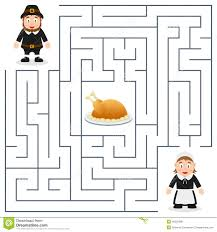 thanksgiving maze for pilgrims stock vector image 45525088