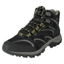 mens merrell boots label phoenix mid black ca 8 standard ebay