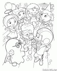 coloring page halloween carnival