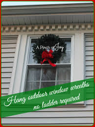 hang a wreath no ladder required