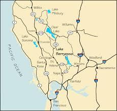 Lake Berryessa Map And Directions To Lake Berryessa Ca