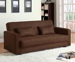 Brown Microfiber Sofa Bed Futon Caravana Furniture
