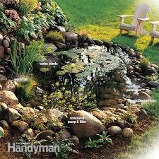 How To Build A Cheap Patio Build A Backyard Waterfall And Stream Family Handyman