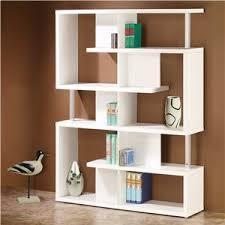 Backless Bookshelf Coaster Bookcases Cappuccino Semi Backless Bookshelf Furniture