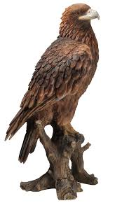 arts golden eagle resin ornament co uk garden