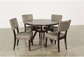 living spaces dining table set pleasant 5 piece round dining table set in macie 5 piece round