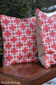 home decor pillows how to make a no sew pillow video tutorial from thrift diving